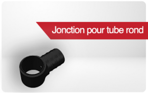 jonction pour tube rond
