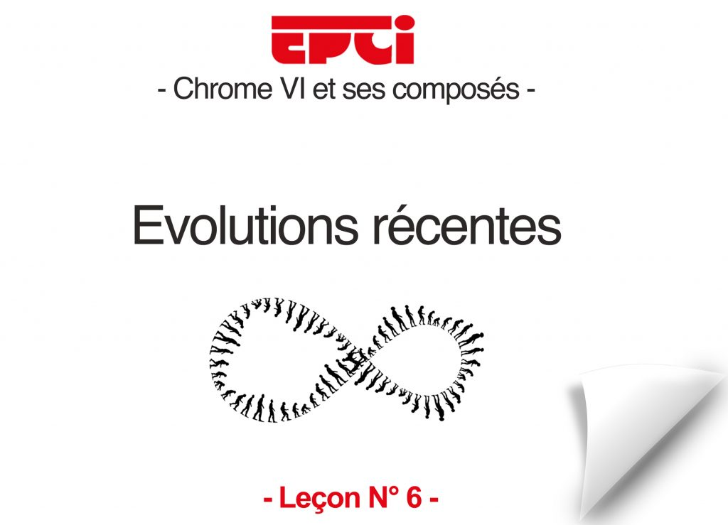 Chrome VI evolutions récentes